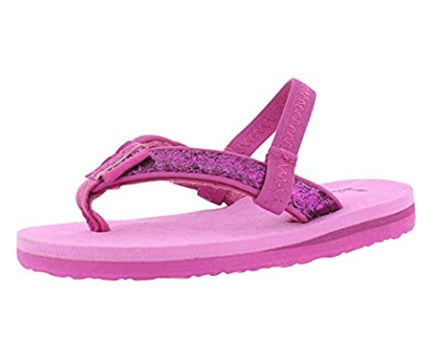Teva Mush II Flip Flop Sandal (Toddler), Pink Glitter, 5 M US Toddler (Kid Teva Flip Flops)