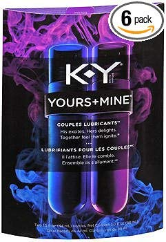 K-Y Yours+Mine Couples Lubricants - 3 oz, Pack of 6