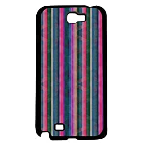 Colorful Spring Pink, Orange, and Green Stripes Hard Snap on Phone Case (Note 2 II)