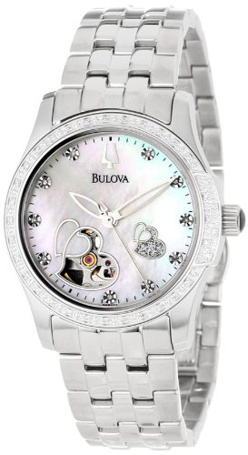 Bulova Women's 96R122 Diamond Accented Automatic Watch (Bulova Automatic Womens Watches)