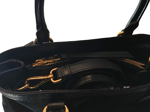 a9a5869616d9 Prada Women's Black Tessuto Nylon Soft Calf Handbag 1BA173 - Buy ...