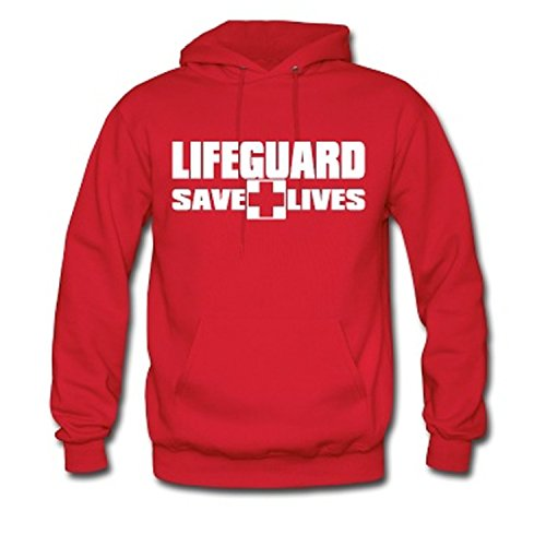 Autumn and Winter 3 Side Print Lifeguard Man Hoodie Sweatshirt Red Life Guard New Unisex XS-2XL,Red 2,S