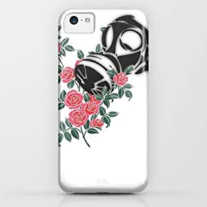 classic - Smell The Roses - Gas Mask iPhone & iphone 5c Case by Vin Zzep