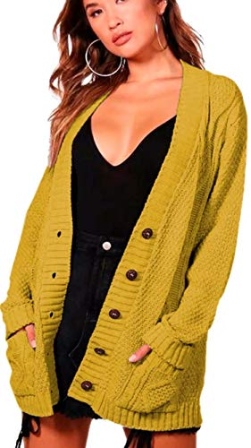 Bouton Longues Chunky Tricot p Manches clothing Aran Femmes Cable Grand e PwB4xW