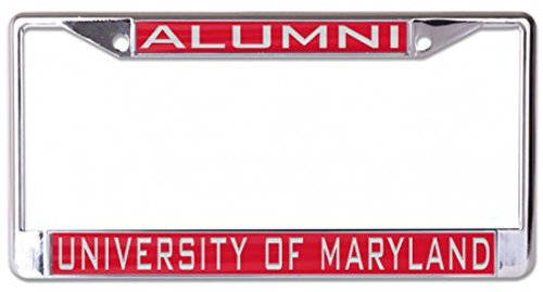 Wincraft University of Maryland Alumni License Plate Frame, Metal with Inlaid Acrylic, 2 Mount Holes, red ()