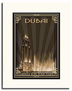 Address Hotel Down Town- Sepia With Gold Border F05-m (a3) - Framed