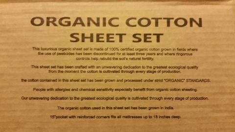 Genial Amazon.com: True Organic   600 Thread Count Bed Sheet Set   100% Certified Organic  Cotton Bed Sheets: Home U0026 Kitchen