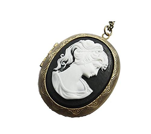Mix Order Elegant Lady Cameo Locket Necklace Goddess Jewelry Bestfriend gfit Vintage Style gifl Woman Daughter Gift idea