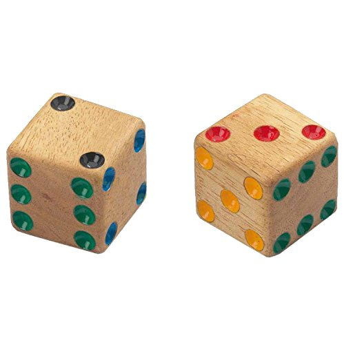Philos Firosu wooden sixsided dice four large 40mm