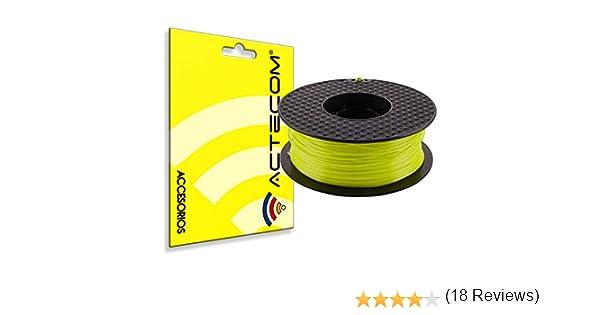 ACTECOM® FILAMENTO PLA Impresora 3D Bobina 1,75MM 1KG Amarillo ...
