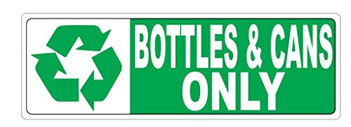 Recycle Bottles & Cans Only car Decal | Size 3