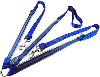 Yeyll - Collar de mamparas para caballo con USB recargable, LED para montar a caballo en la noche, altamente visible, seguridad ecuestre equipo de protección