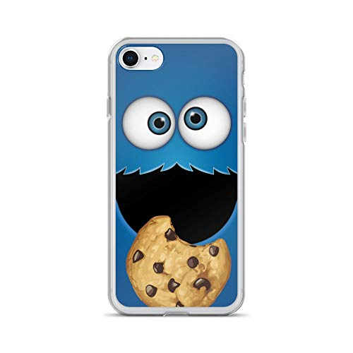 iPhone 7/8 Case Anti-Scratch Television Show Transparent Cases Cover 13 Who's That Cookie Monster Tv Shows Series Crystal Clear -