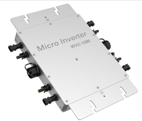 KD WVC 1200W IP65 Waterproof Solar Grid Tie DC To AC Grid Power Micro Inverter