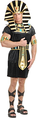 Charades Men's King Tut Costume Set, Black/Turquoise,