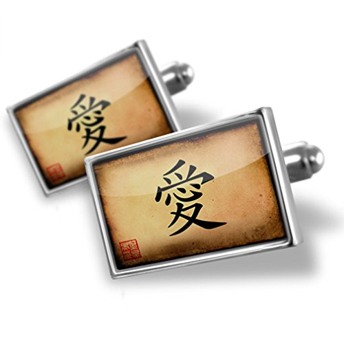 NEONBLOND Cufflinks Chinese characters, letter Love (Letter Love Chinese)