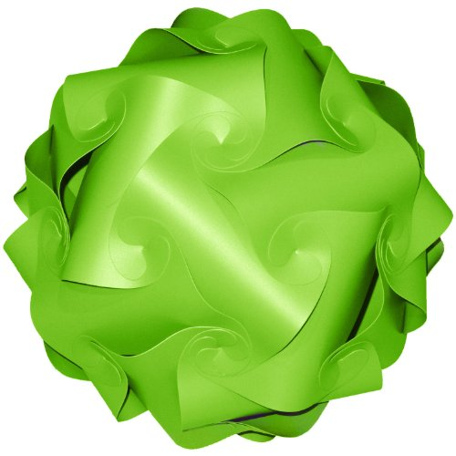 Songkran Jigsaw Lamp: Premium Modern Lamp Shade Kit – Lime Green (Small - 7.5 inch) (Lamp Lime Green)