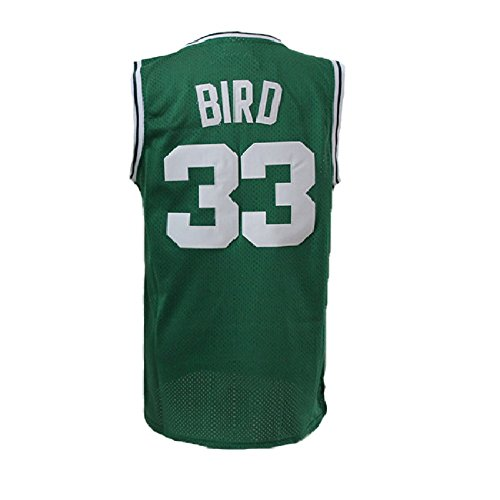 Hokgne #33 Kids Bird Jerseys Youth Basketball Athletics Jersey Boys Larry Jerseys Green (M)