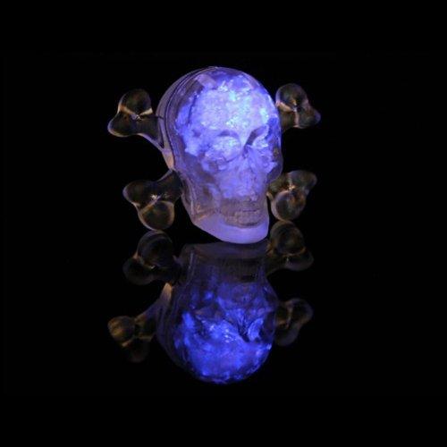(Litecubes® Flashing LED Multi-Color Freezable Skull & Bones Ice Cube - 1)