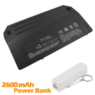 Battpit Bateria de repuesto para portátiles HP EliteBook 8740p (6600 mah) con 2600mAh Banco de energía/batería externa (blanco) para Smartphone: Amazon.es: ...