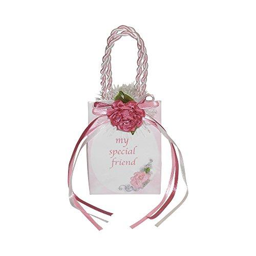 """Miniature Music Box Mini Gift Bag - Pink Special Friend """"Tha"""