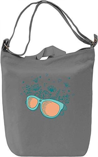 Glasses Borsa Giornaliera Canvas Canvas Day Bag| 100% Premium Cotton Canvas| DTG Printing|