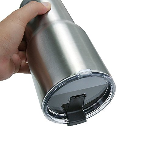 NEW Premium Quality 100% LEAK PROOF Lid For Ozark Trail, YETI, RTIC and other 30 OZ Tumblers by GetiGrip (Black)
