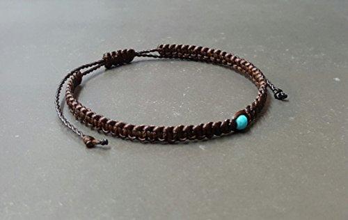 (Handmade Friendship Single Turquoise Bracelet)