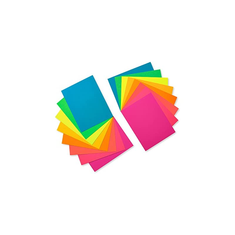 American Greetings Neon Rainbow Blank Si