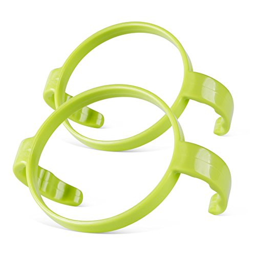 Eye Pull Grip (Compatible Bottle Handle for Comotomo, (Pack of 2, Green))