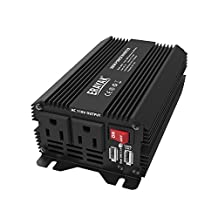 ERAYAK 300W Car Power Inverter DC12V to AC110V with Dual US Outlets 3.1A Dual USB Ports w/ Car Cigarette Lighter Cable&Alligator Clips Cable - 8093U