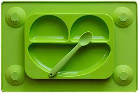 EasyMat - Plato de silicona con divisiones y mantel de succión ...