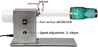 DIY Turner Machine Epoxy Spinner 100~240V FULLY ASSEMBLED CW//CCW Cup Turner  Adjustable Speed Cuptisserie for Glitter Tumbler