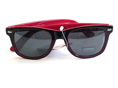 con Filtro Sol VARIOS Rojo UV400 de con Gafas Funda Nuevas Wayfarer COLORES qg7Uztw