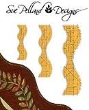 Sue Pelland Designs Leaves Galore 3-Piece Template Set - Grande, Norme, and Petite