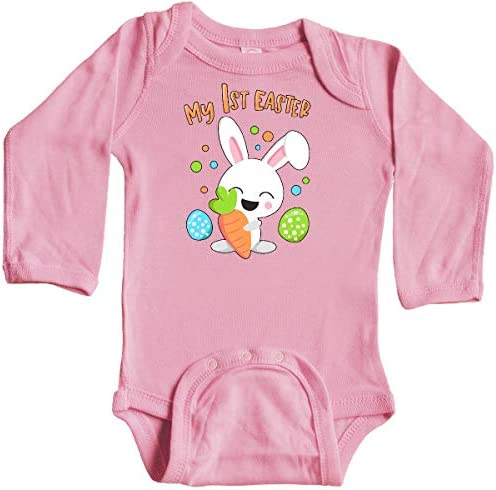 inktastic Cute Easter Llama with Spring Flowers and Egg Long Sleeve Creeper