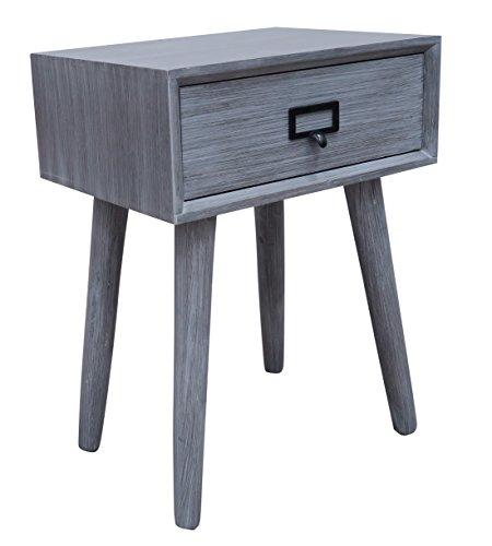 Urbanest Hartford One Drawer Side Table, Slate Grey