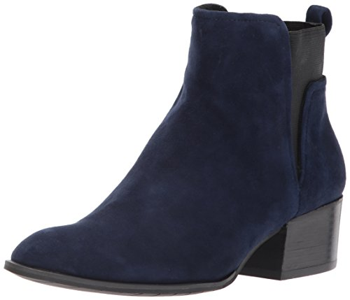 Kenneth Cole New York Women's Artie Pull Low Heel Suede Ankle Bootie, Navy, 9 M (Kenneth Cole New York Pull)