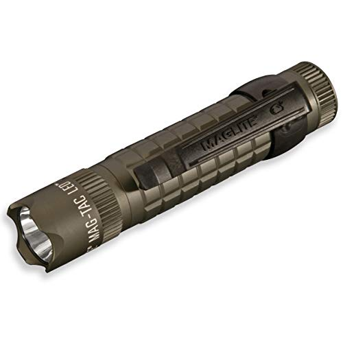 Maglite Mag-Tac LED 2-Cell CR123 Flashlight - Crowned-Bezel, Foliage Green - SG2LRB6