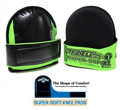 Troxell USA Super Soft Large Hi-Viz Fluorescent Green Knee Pads-