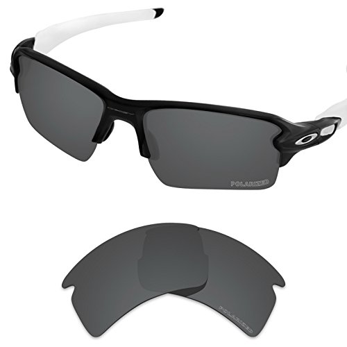Tintart Performance Replacement Lenses for Oakley Flak 2.0 XL Sunglass Polarized Etched-Carbon Black by Tintart
