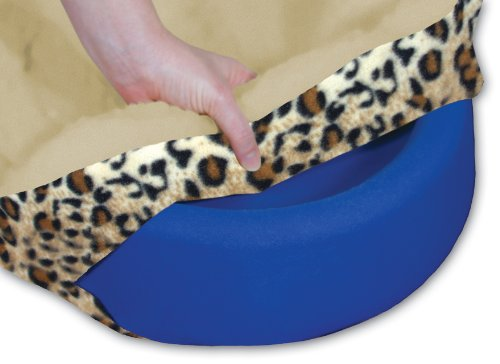 (Gel-Pedic Toy Lush Leopard Pet Bed Cover )