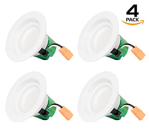 Westgate 9W 3 Inch Recessed Lighting Retrofit Downlight With Integrated Smooth Trim – Dimmable LED Recessed Light – Best Ceiling Lights For Home, Office, Kitchen, Bedroom, 120V – 4 Pack Review