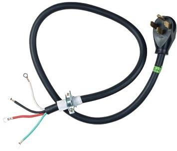 Whirlpool PT400 4-Feet 40-Amp 4 Wire Range Power Cord New,