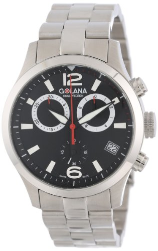 Golana Swiss Men's AE200-2 Aero Pro 200 Quartz Chronograph (Stainless Steel 2 Register Chronograph)