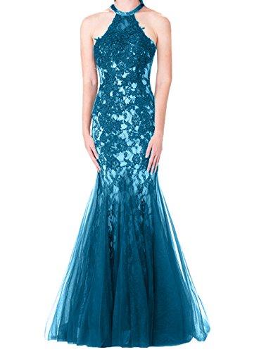Neckholder Tuell La Meerujungfrau Spitze mia Promkleider Abschlussballkleider Braut Blau Rock Hochwertig Abendkleider tzxfzw4q
