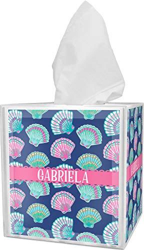 (RNK Shops Preppy Sea Shells Tissue Box Cover (Personalized))