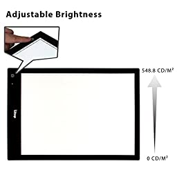 Litup Wireless Portable Light Box A3 Size Rechargeable LED Light Pad USB/Battery Powered Used in Animation, Drawing, Sketching, Tattoo Transferring- LPB3