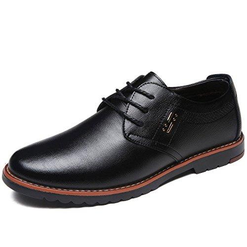 LEDLFIE Chaussures en Cuir pour Hommes Costumes D'affaires Chaussures de Mariage Black