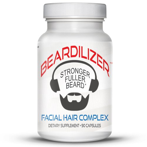 Beardilizer Facial Hair Growth Complex for Men, 90 - Different Facial Hair Of Styles